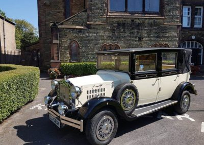 Imperial Viscount Landaulette wedding car St Peter and Paul's Church crosby Liverpool Merseyside UK
