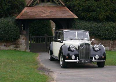 royale windsor wedding car outside church wedding car wirral merseyside uk