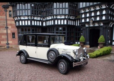 Imperial viscount vintage wedding car hillbark hotel wedding venue wirral Merseyside UK