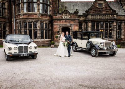vintage Wedding cars wirral, liverpool at Thornton Manor wedding venue Wirral,Merseyside uk