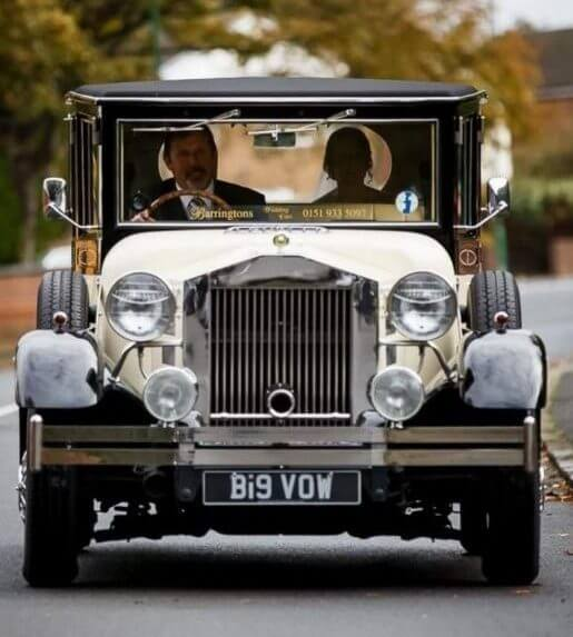 Kevin brown photography of the imperial viscount wedding car on the way to st josephs church